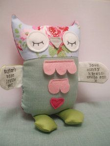 "Personalised Soft Toy ""Wise Little Owl""  Kidtopia"