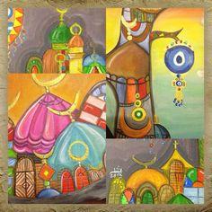 Iraqi artist,  Rasha Okab