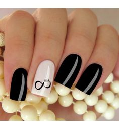 Elegant Black And White Nail Art Designs You Need To Try; Elegant Black And White Nail Art Designs; Elegant Black And White Nail; Black And White Nail; Black And White Nail Art Designs; Square Acrylic Nails, Square Nails, Acrylic Nail Designs, Nail Art Designs, Beautiful Nail Art, Gorgeous Nails, Pretty Nails, Black And White Nail Art, White Nails