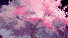 falling cherry blossom gif