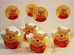 Fatflyshop - 24 Pieces/lot Winnie the Pooh Cupcake Wrappers Toppers Picks Decoration Kids Birthday Party Favors Supplies Cupcake Cases Cupcake Liner FatflyShop cupcake wrappers toppers http://www.amazon.com/dp/B00OVOQS2U/ref=cm_sw_r_pi_dp_scjgvb18SDYS7