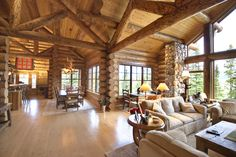 The Headwaters Camp Cabin in Big Sky, Montana. - Google Search