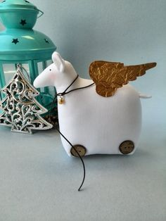 Cyber monday sale Christmas toy lamb Christmas by HandmadeToyStore