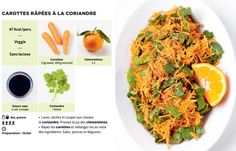 carottes râpées à la coriandre maquette Good Food, Yummy Food, Le Diner, Batch Cooking, Light Recipes, Cravings, Lunch Box, Food And Drink, Easy Meals