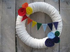DIY Tutorial from A Catch My Party Member - How to Make a Rainbow Wreath | Catch My Party