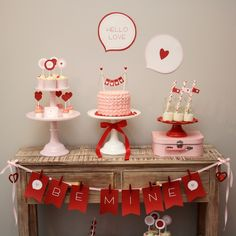 Pretty Valentine's Day Party. See more party ideas at CatchMyParty.com. #tvalentinespartyideas