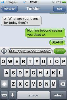 Hahaha! Lo que pasa cuando escribes en el iPhone!