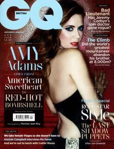 Amy Adams Knew About Gender Pay Gap While Making American Hustle, Doesn't Totally Agree With Jennifer Lawrence Amy Adams, British GQ Gq Magazine Covers, Hi Brother, Norman Jean Roy, Pin Up, Gender Pay Gap, Spin Doctors, The Last Shadow Puppets, Uk Magazines, Jeremy Corbyn