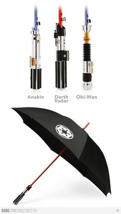 Light saber umbrellas! I think I need one.