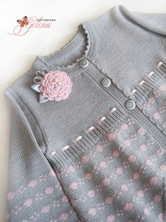 """Купить Кофта для девочки """"Милашка - 2"""" - серый, бледно-розовый, кофточка, кофточка для девочки"""