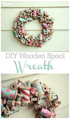Make Your Own Wooden Spool DIY Wreath