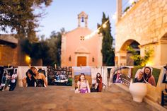 The wedding in Crete had a few heartfelt details that truly impressed the guests. One of them was the the photographs from the bride and groom's families.  Photos with family members from their childhood until today. See more #wedding ideas here http://www.love4weddings.gr/rustic-wedding-crete/