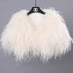 100% Real Ostrich Feather Fur Handmade Shawl Shrug Jacket Vest Wedding bolero ! | eBay