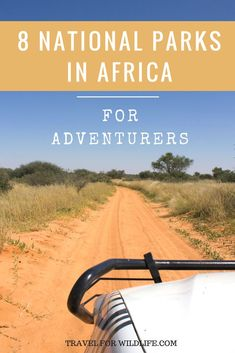 Our favorite national parks in Africa for adventurers. These might be out of the way and some don't even have facilities, but the African wilderness is calling and you must go. We also show you how to get there and get around. Are you ready for an African safari dream? Travel to the most remote parks in Africa by yourself or with a guided tour.  What are you waiting for? Adventure awaits. #Africa #safari #NationalPark via @travel4wildlife