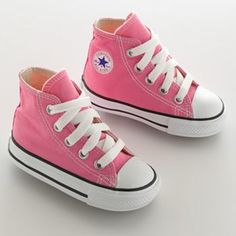 Baby / Toddler Converse Chuck Taylor All Star High-Top Sneakers Converse Chuck Taylor All Star, Converse All Star, Chuck Taylor Sneakers, Converse Shoes, Toddler Outfits, Toddler Girls, Toddler Converse, Hunter Shoes, Cute Boots