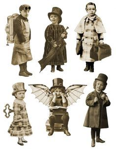 Steampunk - great site, lots of images - steampunk paper dolls