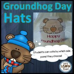 Groundhog Day - Hats for February Activities Groundhog Day Activities, Holiday Activities, Educational Activities, Classroom Activities, Kindergarten Themes, Holiday Hats, Thing 1, Teacher Resources, Teaching Ideas