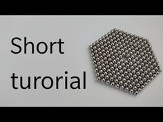 How to make magnet hexagon short tutorial How To Make Magnets, Shorts Tutorial, Cool Shapes, Balls, Cube, Make It Yourself, Cool Stuff, Youtube, Youtubers