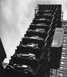 John Gutmann: Elevator Garage, Chicago, 1936