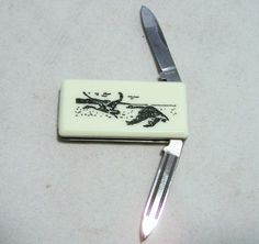 Parker Money Clip Knife Flying Canada Geese by GretelsTreasures