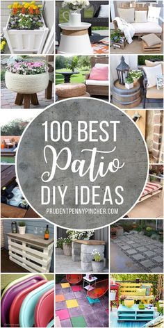 100 Best DIY Outdoor Patio Ideas Give your patio a makeover on a budget with these DIY patio decorating ideas. From small patio ideas to large backyard patio ideas, there are plenty of patio ideas to choose from.