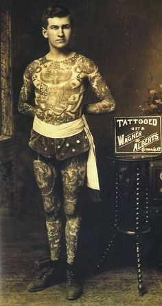 The tattooed man.