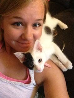 """Runner Up. Ophelia, adopted from Butte Humane Society – Chico, CA: """"Ophelia is a pirate on my shoulder! Fancy Cats, Cute Cats, Crazy Cat Lady, Crazy Cats, Animal Pictures, Cute Pictures, Foster Kittens, Humane Society, Beautiful Cats"""