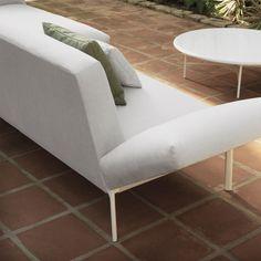 Livit sectional sofa by Lievore Altherr Molina. Outdoor collection. Shot at Jardí Botànic de la Universitat de València. Year: 2017. Photo by Mimus Comunicación.