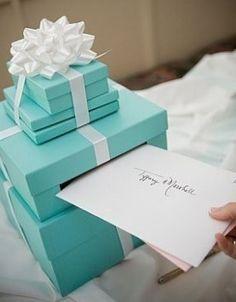 Cute idea for a Tiffany wedding