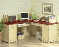 corner desk pictures | Corner Desk Design Home Office Furniture With Drawer And Cabinet Space ...