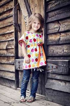 Reversible Girls Tunic Free PDF Pattern for Beginners