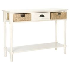 Perfect placed in your living room or entryway, this timeless console table brims with rustic appeal. Use it to stack books and display decor, then stow ever...
