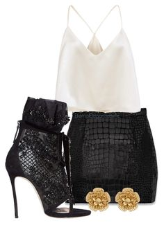 """""""Untitled #368"""" by eternalelegancebyac ❤ liked on Polyvore featuring Yves Saint Laurent, Dsquared2 and Miriam Haskell"""