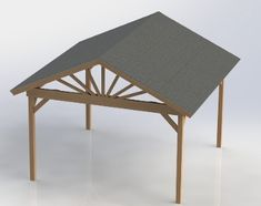 Gazebo Building Plans - Gable Roof | 16x16 | Perfect for Hot Tub