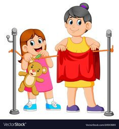 Little girl helping hang laundry her mother Vector Image Picture Comprehension, Describing Characters, Action Words, Colouring Pics, Bird Crafts, Happy Art, Cartoon Kids, Kids Education, Clipart