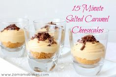 15 Minute Salted Caramel Cheesecakes Feature