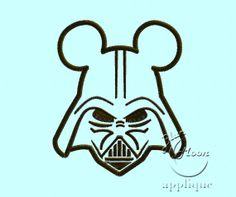 mouse vader Applique Design for Embroidery by bluemoonapplique, $4.60