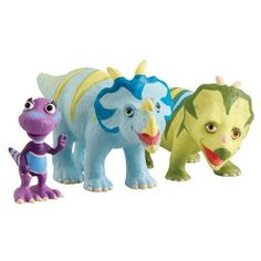 Learning Curve Dinosaur Train Collectible Dinosaur 3 Pack - My Friends Have Spikes: Mr. Einiosaurus, Ernie And Daphne by Learning Curve. $25.00. From the Manufacturer                Based on the new Henson PBS show, the Dinosaur Train collectible segment enables children to collect all of their favorite Dinosaur Train characters, while also expanding their train set. This collectible 3 pack includes three plastic dinosaurs featured on the show. Collect them all.  ...