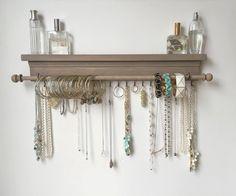Organisateur de bijoux - suspendus plateau bijoux - suspension bijoux stockage