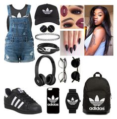 """""""summer😏"""" by cams-cloud ❤ liked on Polyvore featuring adidas, adidas Originals, Guild Prime, Bling Jewelry and Beats by Dr. Dre"""