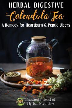 Herbal Digestive Calendula Tea: A Remedy for Heartburn & Peptic Ulcers  #calendula #herbalmedicine # #herbs #herbalife #herbalist #pepticulcers #heartburn