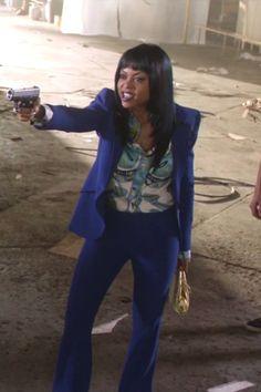 Cookie Lyon wearing  Alexander McQueen Crepe Blazer, Alexander McQueen Cropped Crepe Tapered Pants