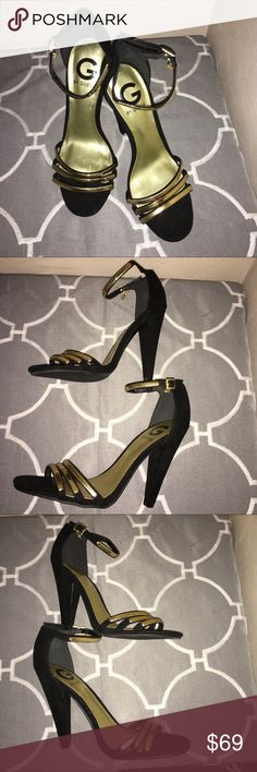 "Guess Heels Gently used Gorgeous Guess 5"" Heels size 7great fat a night out on the town. Guess Shoes Heels"
