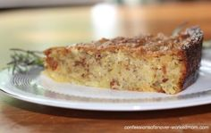 Lemon polenta cake with rosemary recipe – A savory cake recipe