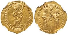 Ancient Coins - THEODORA GOLD HISTAMENON - SOLE REIGN ISSUE WITH CHRIST AND…