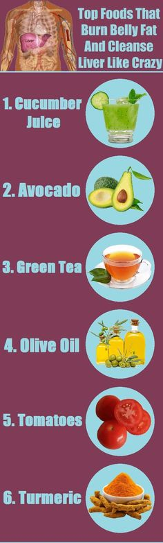 Top Foods That Burn Belly Fat And Cleanse Liver Like Crazy (VIDEO)