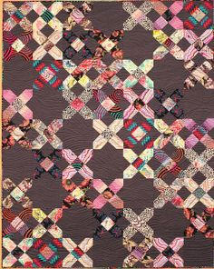 Criss Cross Kaffe quilt, pieced by Jennifer Soosay & quilted by Jo Thomas for Suppose; shop sample
