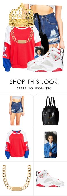 """Jockin Da Bitches; Slappin The Hoes"" by pinkswagg15 ❤ liked on Polyvore featuring Marc by Marc Jacobs, adidas Originals, House of Harlow 1960, Retrò and Elizabeth Knight"
