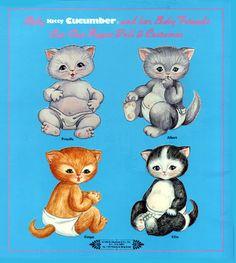 une série originale, découverte sur le board de Christine Smolinski, avec ces adorables chatons... je n'ai pour l'instant pas réussi à en découvrir la source (mais je ne renonce pas ;) !)