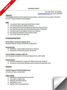 chemical engineer resume sample - Chemical Process Engineer Sample Resume